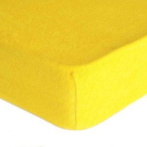Prostěradlo froté žlutá TiaHome