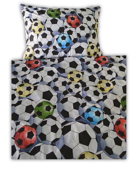 Povlečení bavlněné dětské Fotbalové míče TiaHome