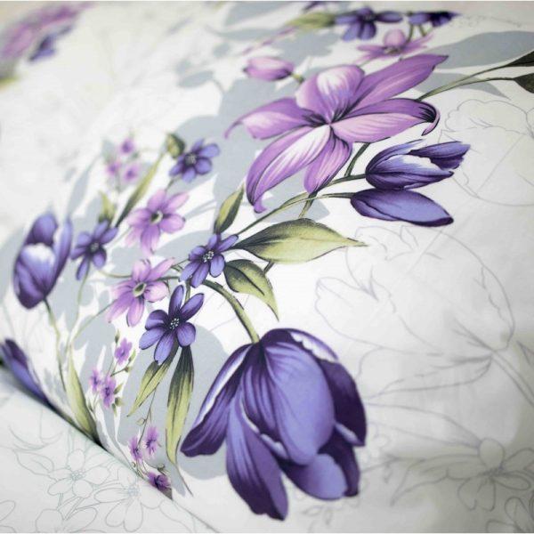 Povlečení bavlněné Riel lila kombinovaná TiaHome