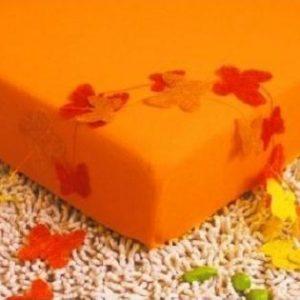 Prostěradlo jersey oranžová TiaHome