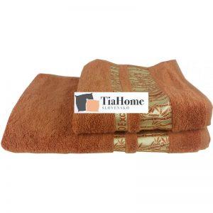 Osuška Bambo gold cihlová 70x140cm TiaHome