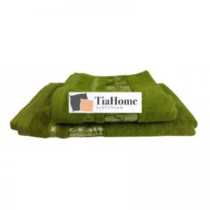 Osuška Bambo gold zelená 70x140cm TiaHome