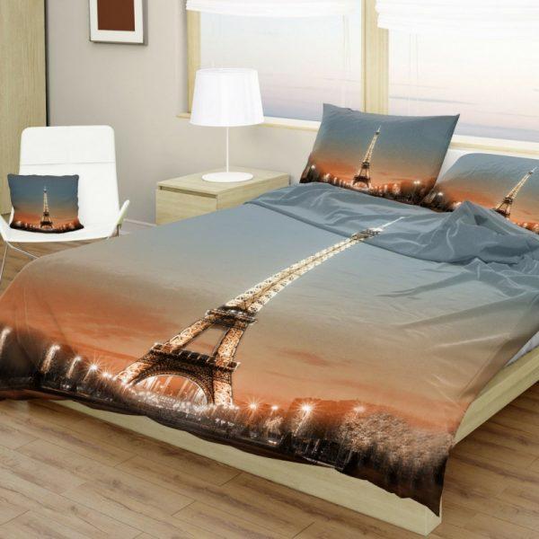 Povlečení bavlněné Deluxe Eiffelova věž 3D TiaHome