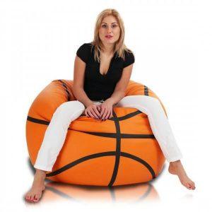 Sedací vak Basketbalový míč ekokůže