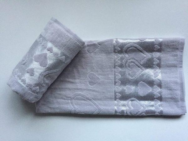 Žakárový froté ručník světle šedá TiaHome