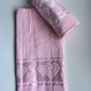 Žakárový froté ručník světle růžová TiaHome