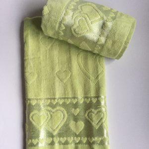 Žakárový froté ručník světle zelený TiaHome