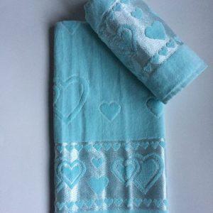 Žakárový froté ručník tyrkysový TiaHome