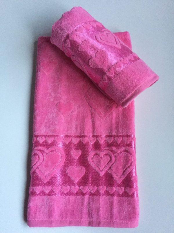 Žakárový froté ručník cyklámenová TiaHome