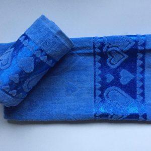 Žakárový froté ručník tmavě modrý TiaHome