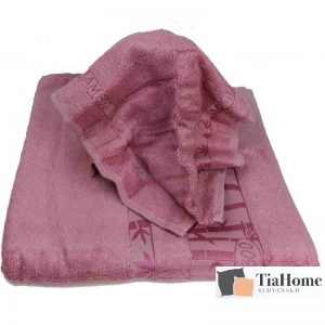 Osuška Bambo růžová 70x140cm TiaHome