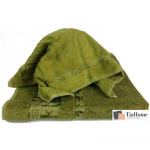 Osuška Bambo zelená 70x140cm TiaHome