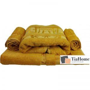 Osuška Bambo zlato žlutá 70x140cm TiaHome