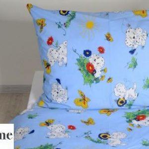 Povlečení bavlněné dětské dalmatinů modré TiaHome